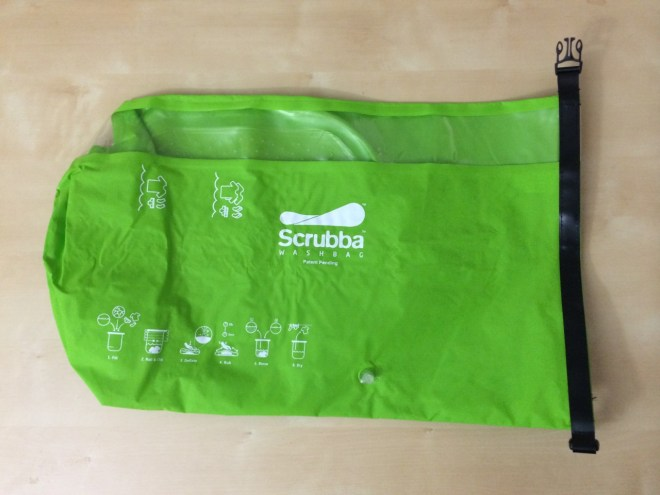 The Scrubba manual washing machine