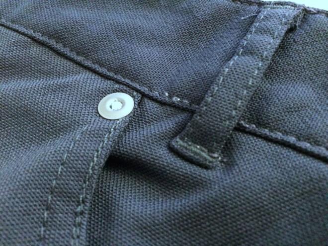 Slim Dungarees exterior fabric close up