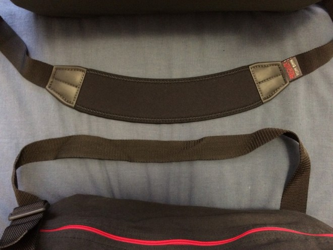 Duffel bag shoulder strap comparison