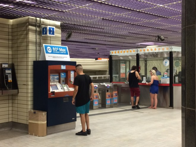 Metro ticket machine