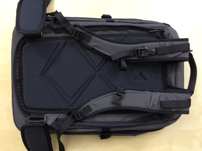 Minaal backpack back panel view