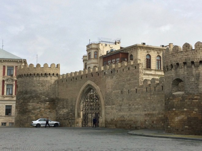 Baku city wall gate