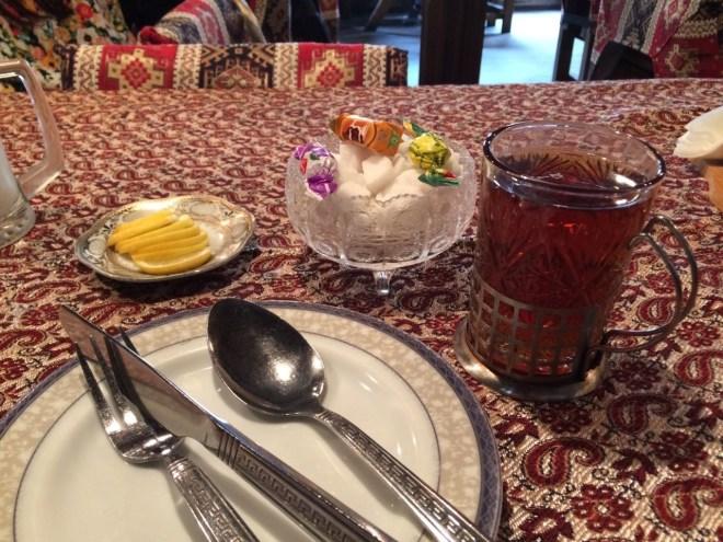 Azerbaijan tea service