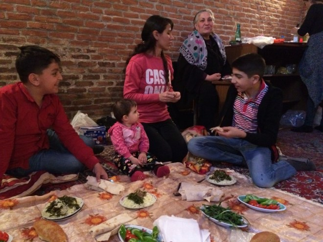 Mosque lunch in Nakhchivan