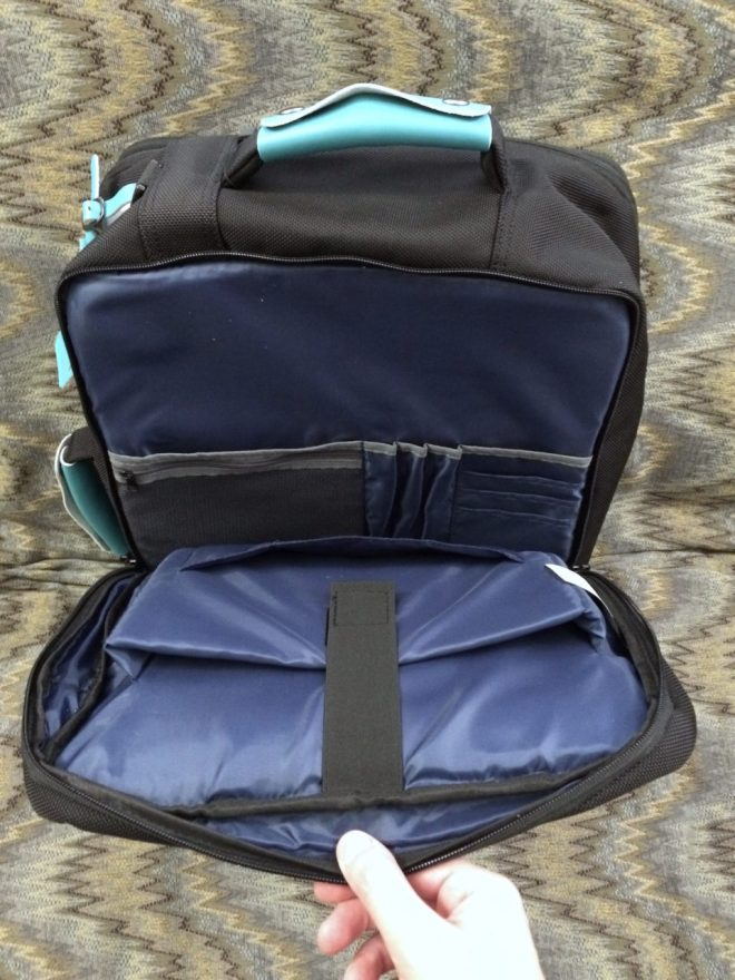 Standard Luggage laptop compartment