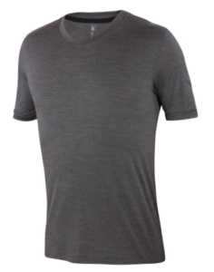 Ibex Essential silk and merino wool v-neck t-shirt