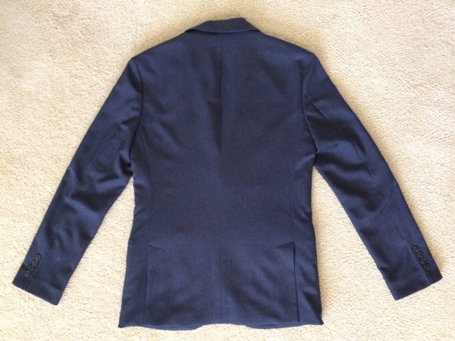 Bluffworks blazer back view