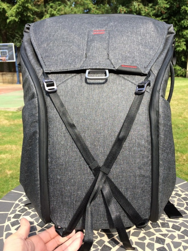 Peak Design Everyday Backpack straps on front