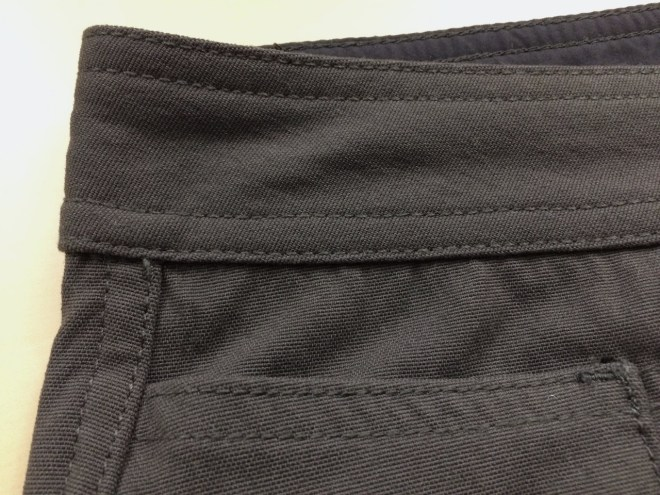 Western Rise AT Slim Rivet Pant fabric closeup