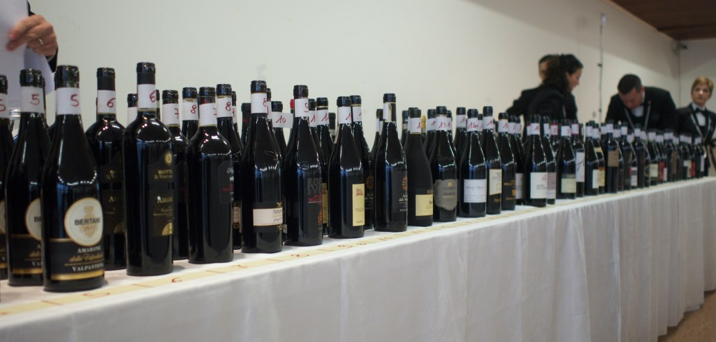 Many bottles of Amarone 2014 Vintage at the Anteprima Amarone