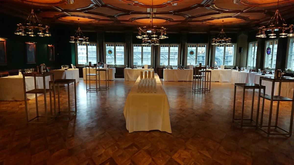 Tasting room at the Zunfthaus zur Saffran in Zurich
