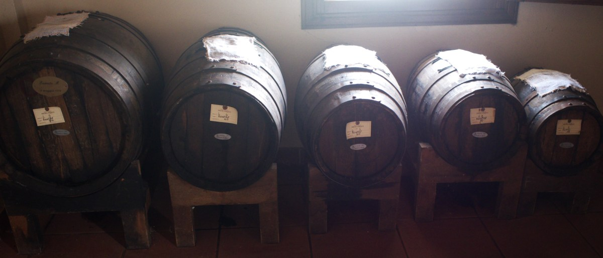A five-barrel Solera found at Ermete Medici