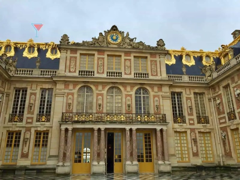 Palace of Versailles in yellow black and gold