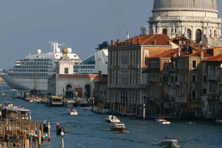 cruise ship in the Venice lagoon
