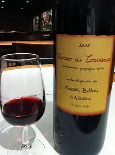 italian wine bottle and glass