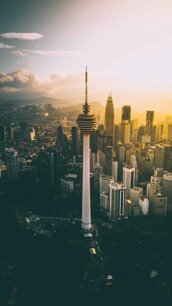 city skyscrapers of Kuala Lumpur Malaysia