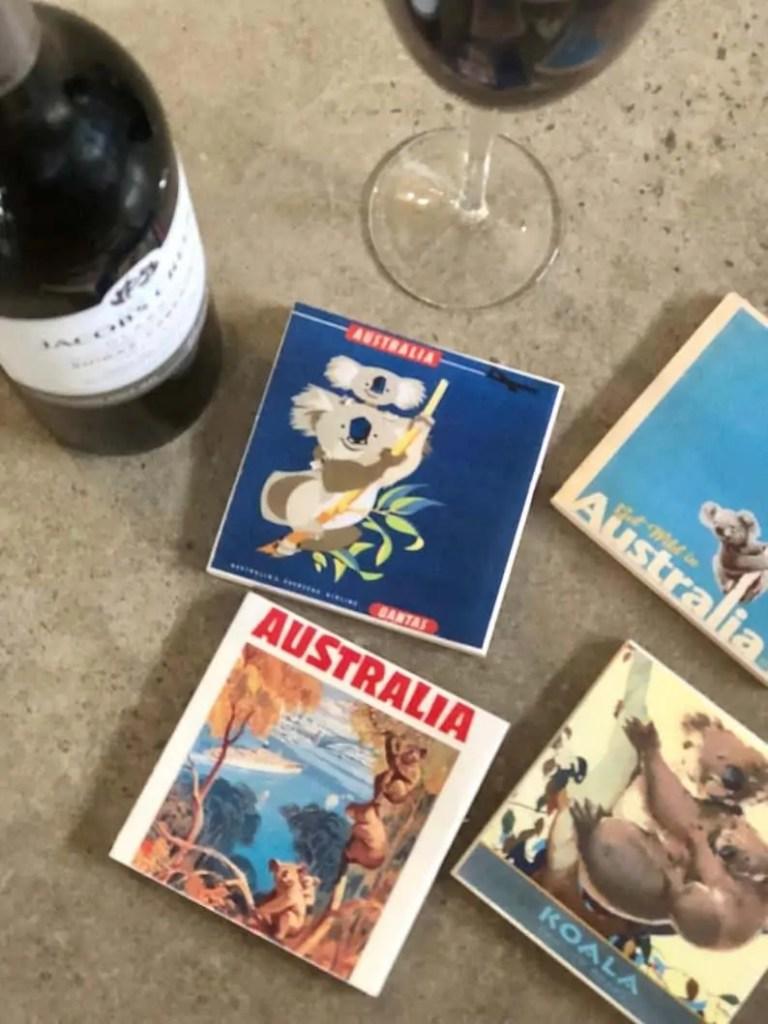 australiana drink coasters Snazzy Trips