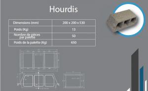 hourdis 200x200x530