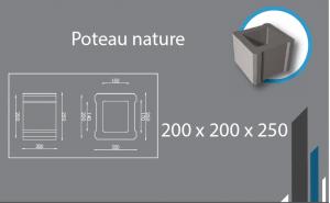 poteau 200x200x250