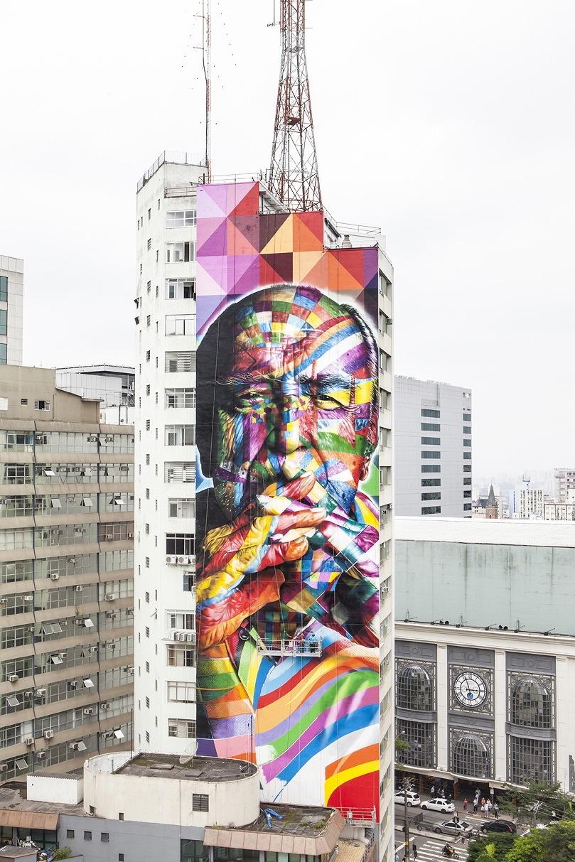 Fresque Eduardo Kobra