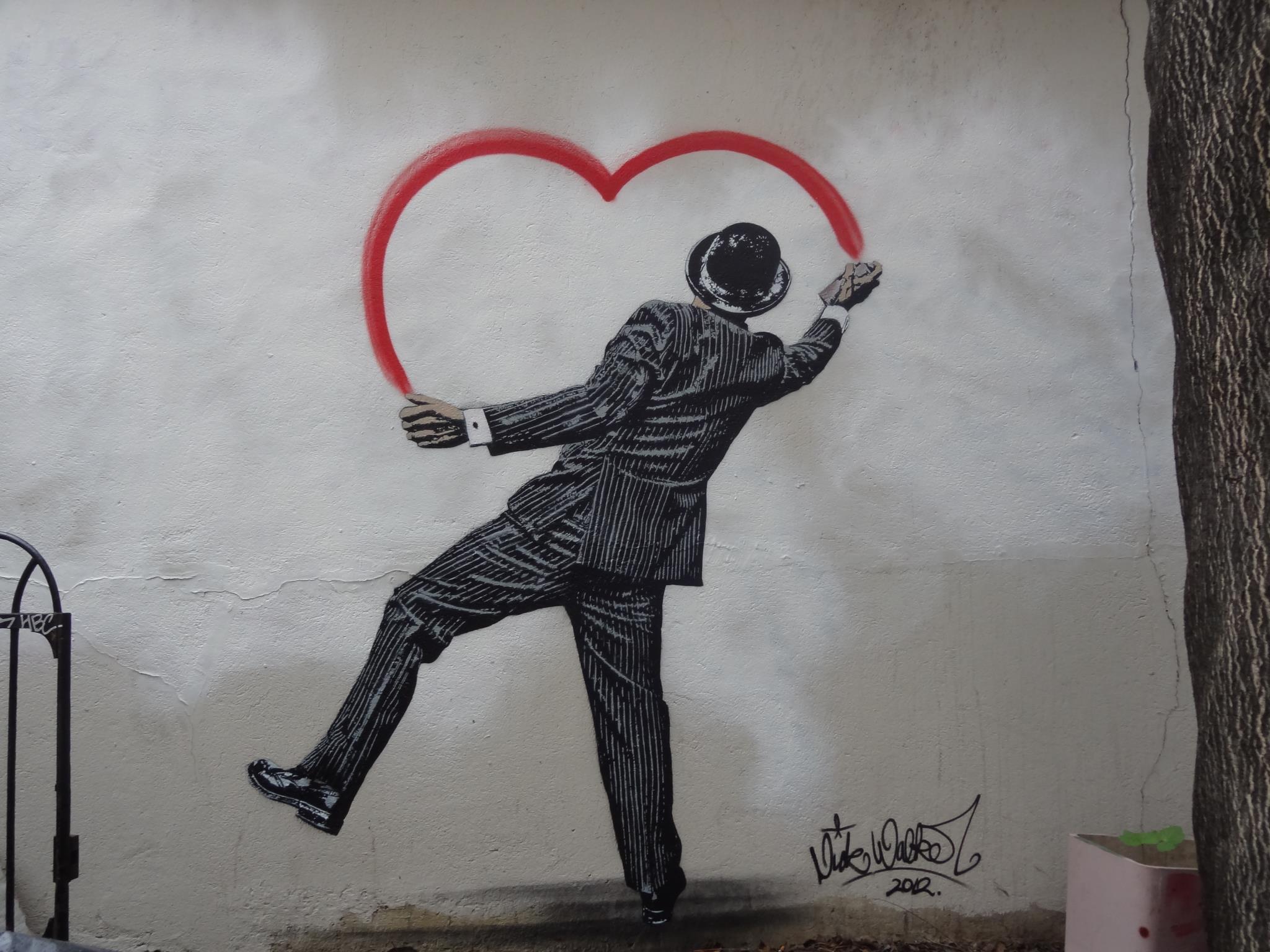 Slection Duvre Street Art Sur Le Thme De LAmour