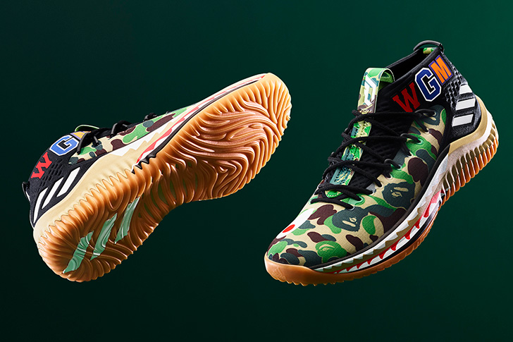 Photo02 - アディダス バスケットボールとA BATHING APE®のコラボレーション、adidas Basketball by BAPE® DAME 4が登場
