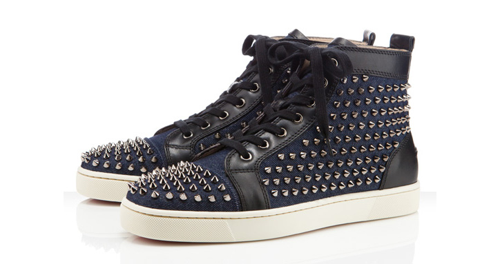 "Photo01 - Christian Louboutin Louis Flat Spikes ""Denim"""