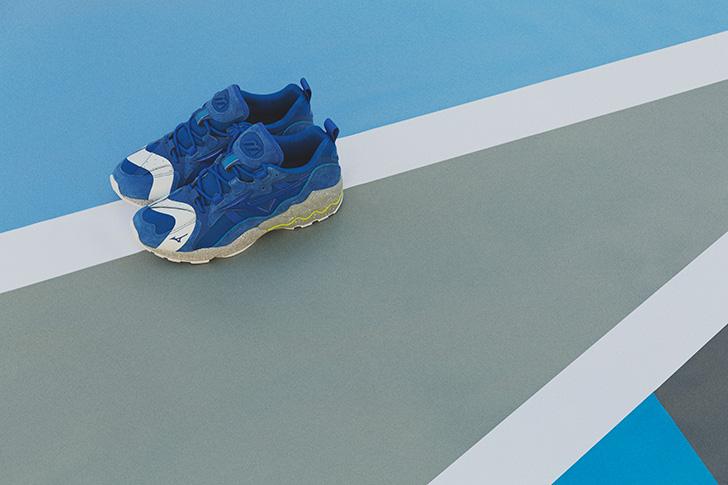 "Photo05 - ミズノから、mita sneakersとの初となるコラボレートモデルWAVE RIDER 1 ""NO BORDER""が登場"
