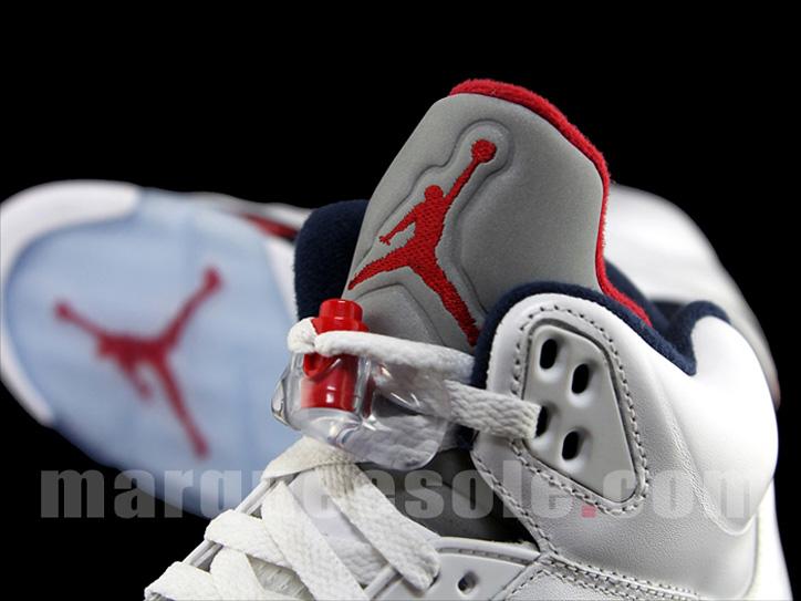 Photo04 - Nike Air Jordan V 5 – White – Varsity Red – Midnight Navy