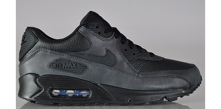 Photo02 - Nike Air Max 90 Black Leather