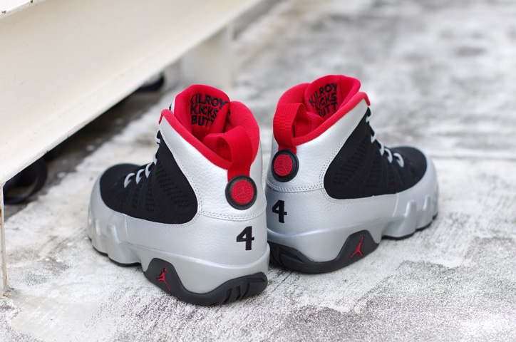 Photo02 - NIKE AIR JORDAN IX RETRO BLACK/GYM RED-MET PLUTINUM