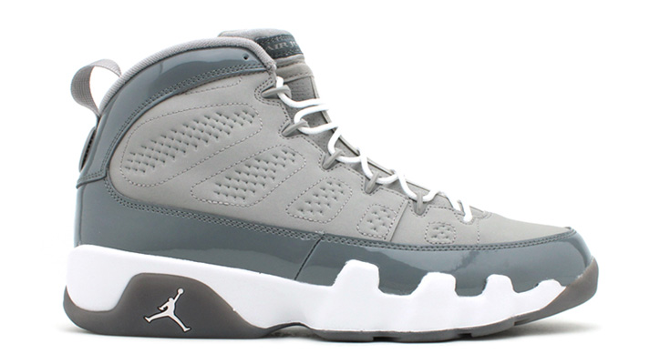 Photo01 - NIKE AIR JORDAN 9 RETRO GRY/WHT-COOL GRY