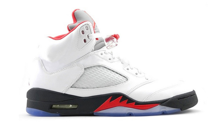 Photo01 - NIKE AIR JORDAN 5 RETRO WHITE/FIRE RED-BLACK