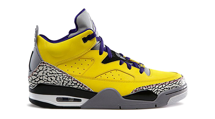 NIKE JORDAN SON OF LOW TOUR YELLOW/GRAPE ICE/CEMENT GREY-WHITE