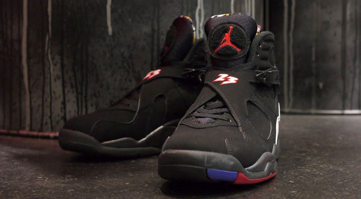 "NIKE AIR JORDAN VIII RETRO ""MICHAEL JORDAN"" BLK/RED/WHT"