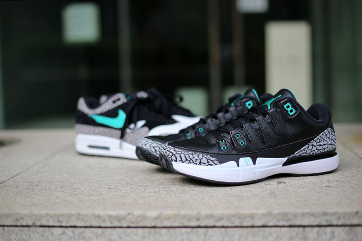 "Photo02 - NIKE COURT ZOOM VAPOR RF X AIR JORDAN 3 ""atmos""がSports Lab by atmos Shinjukuにて世界先行発売"