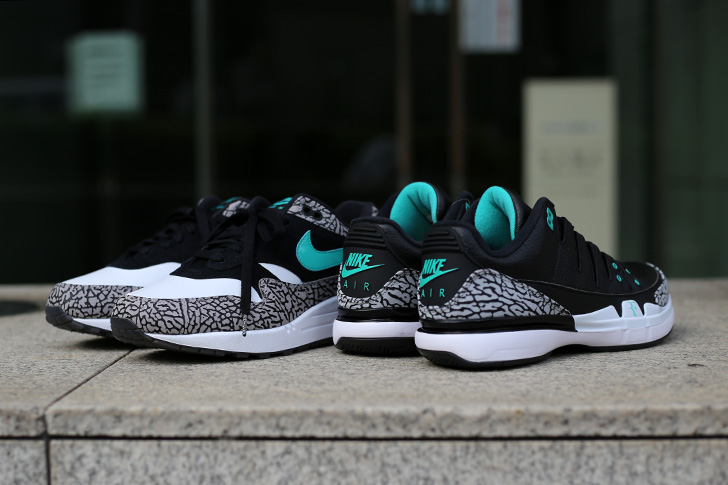 "Photo05 - NIKE COURT ZOOM VAPOR RF X AIR JORDAN 3 ""atmos""がSports Lab by atmos Shinjukuにて世界先行発売"