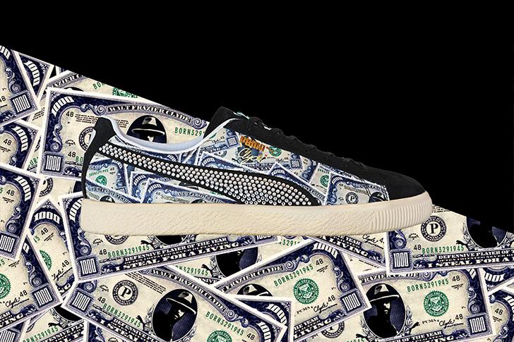 "Photo03 - プーマは、オリジナルのドル札紙幣をプリントしたmita sneakersとのコラボレーションモデルCLYDE ""mita sneakers""を発売"
