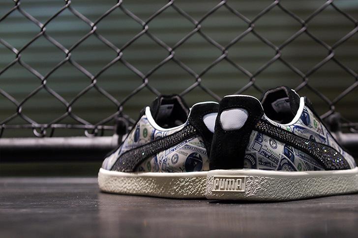 "Photo12 - プーマは、オリジナルのドル札紙幣をプリントしたmita sneakersとのコラボレーションモデルCLYDE ""mita sneakers""を発売"