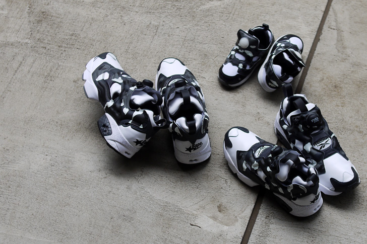 "Photo04 - リーボックは、mita sneakersとA BATHING APE®とのコラボモデル第3弾INSTA PUMP FURY ""CITY CAMO""を発売"