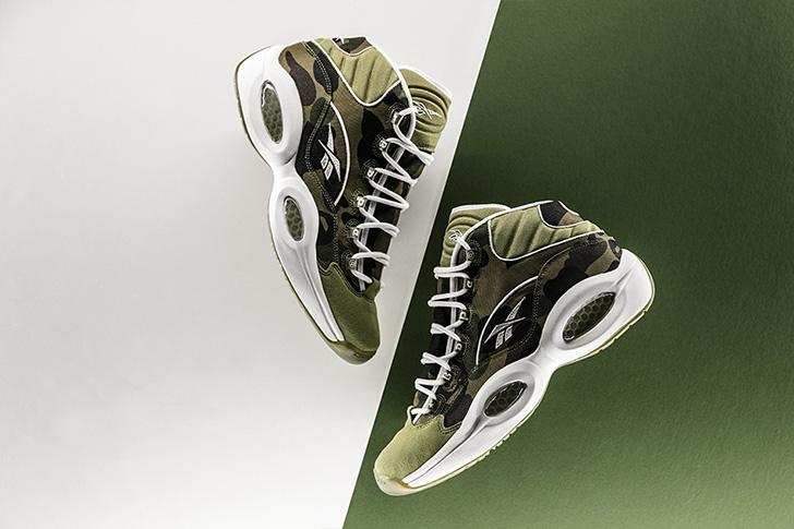 "Photo02 - リーボックから、BAPE®とmita sneakersによるコラボレーションモデルQUESTION MID ""A BATHING APE® x mita sneakers""が発売"
