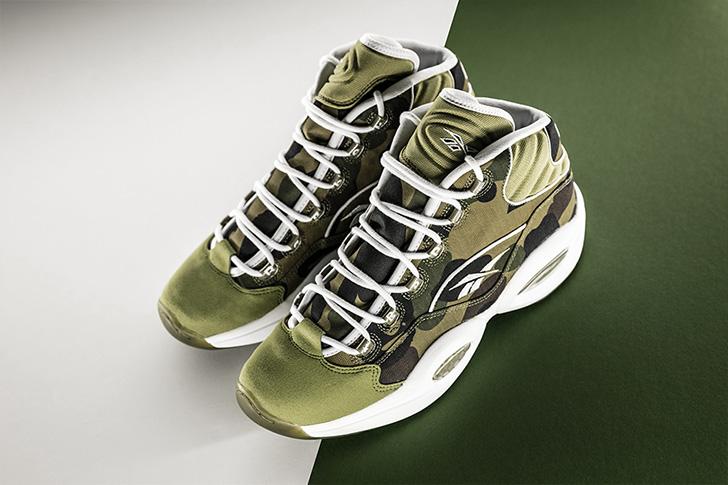 "Photo03 - リーボックから、BAPE®とmita sneakersによるコラボレーションモデルQUESTION MID ""A BATHING APE® x mita sneakers""が発売"