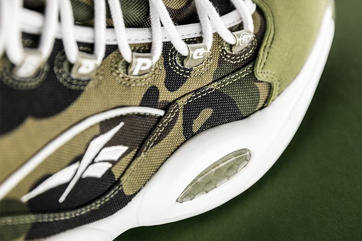 "Photo04 - リーボックから、BAPE®とmita sneakersによるコラボレーションモデルQUESTION MID ""A BATHING APE® x mita sneakers""が発売"