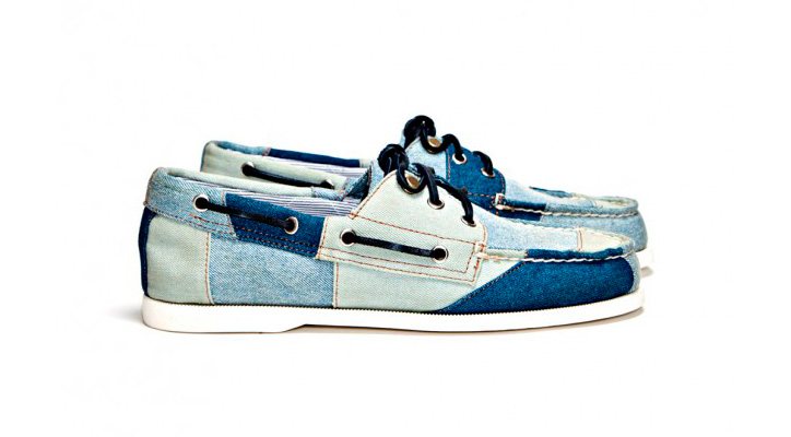 Photo01 - Band of Outsiders x Sperry Top-Sider 3 Eye Tri Tone Denim Boat Shoe