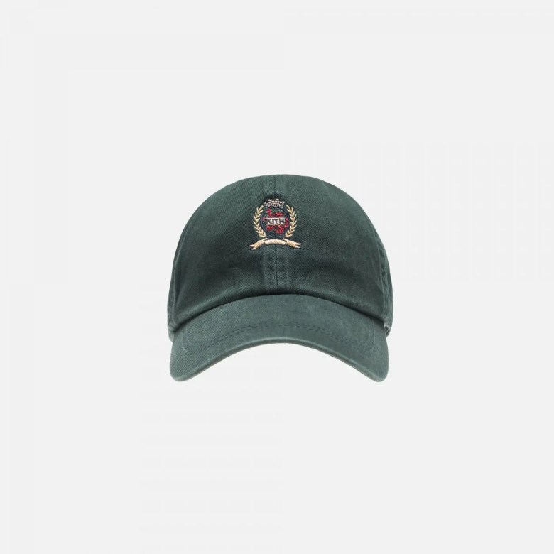 KITH X TOMMY HILFIGER CREST CAP FOREST