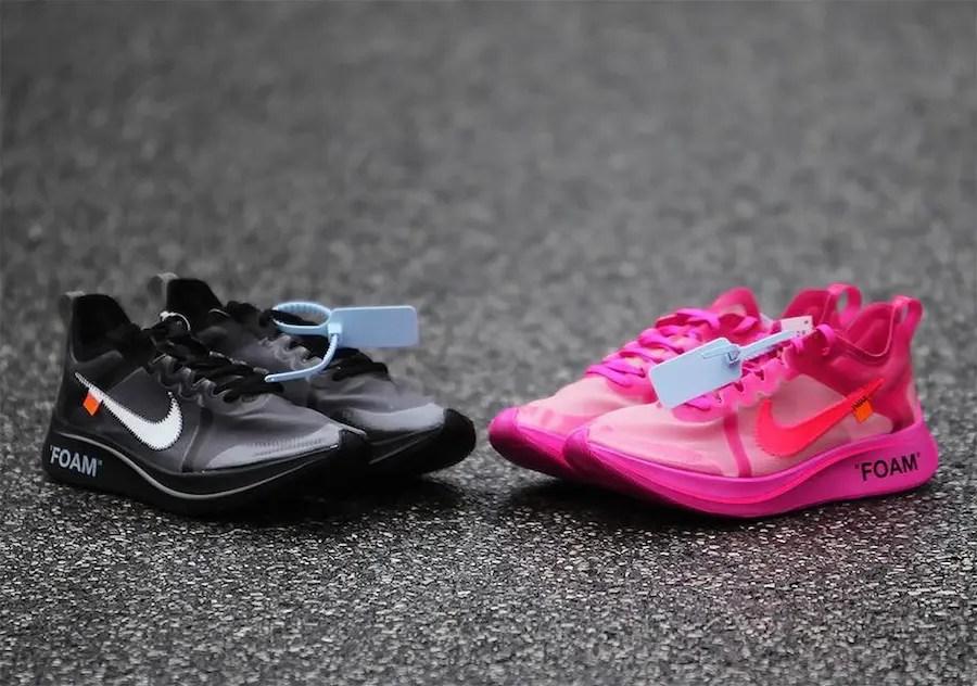 """11/28 海外リリース!新作コラボ Off White × Nike Zoom Fly SP """"Pink""""&""""Black""""に注目"""