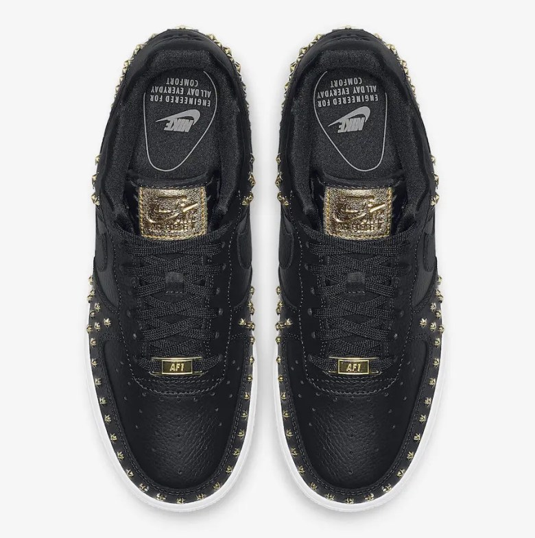 NIke-Air-Force-1-Low-Stars-Black-Gold-AR0639-001-3