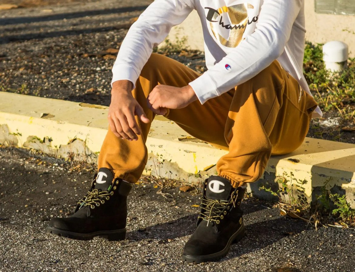 champion-timberland-boots-shirt-pants
