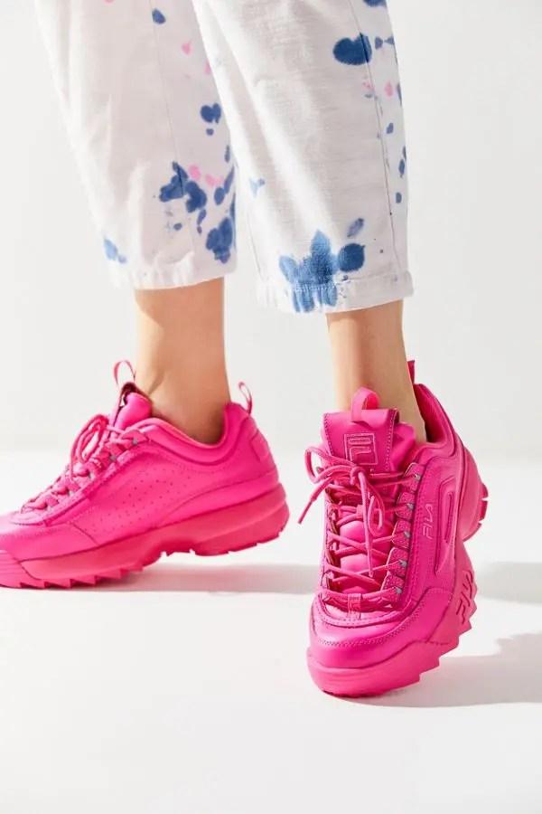 FILA Disruptor 2 Mono Neon Sneaker-06
