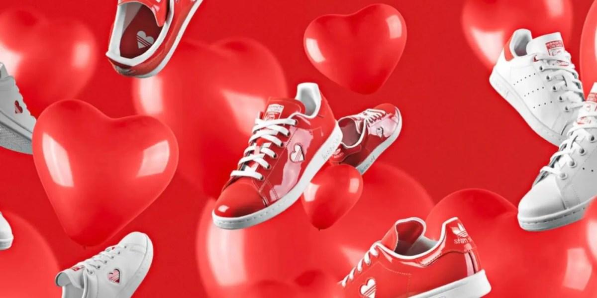 """ハートモチーフがキュート【adidas (アディダス)】から発表されたバレンタインデー限定デザインのスタンスミスやスーパースターをまとめて紹介!(adidas Superstar, adidas Originals Stan Smith """"Valentine's Day"""" Pack)"""